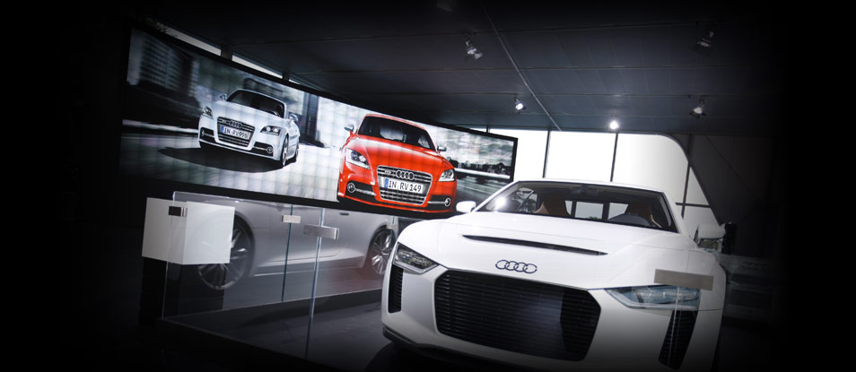 SOLUTION CREATED FOR AUDI WITH A MICROTILES™ WALL