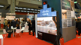 Stand overview with MicroTiles™ videowall